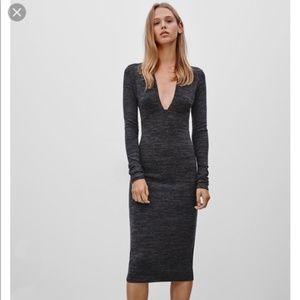 ARITZIA Knit Long Sleeve Bodycon Abby Dress XS